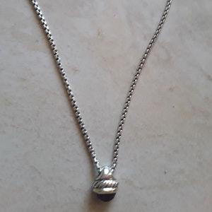 David Yurman Amethyst Acorn Necklace